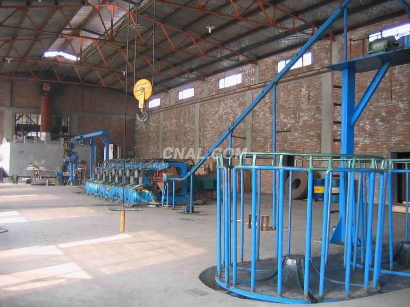 alumnium rod continuous casting and rolling line