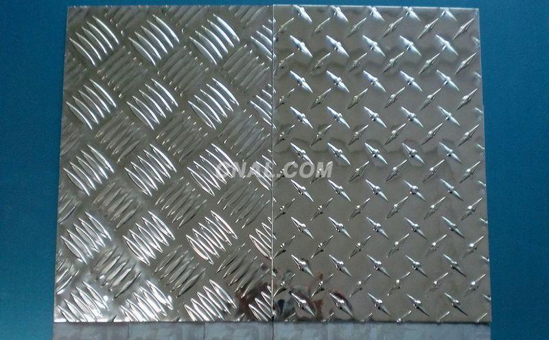 Tread/chequered aluminum plate sheet