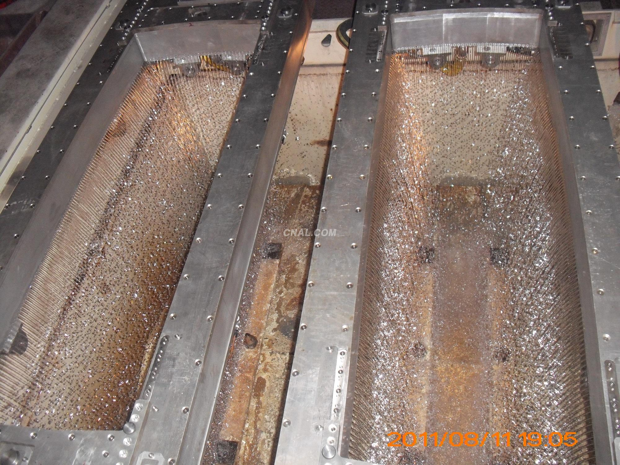 Aluminum Copper Ingot casting with two lines of waterholes
