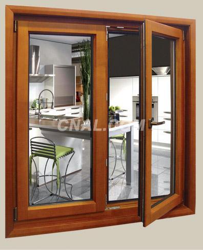 Aluminum composite wood doors and windows