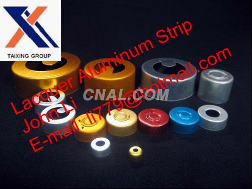aluminium strip both sides lacquer for vial seals