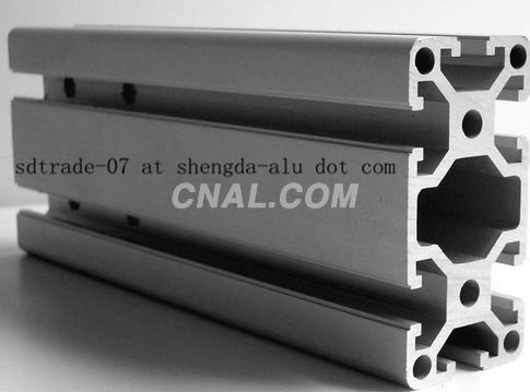 Aluminium profile for industrial use