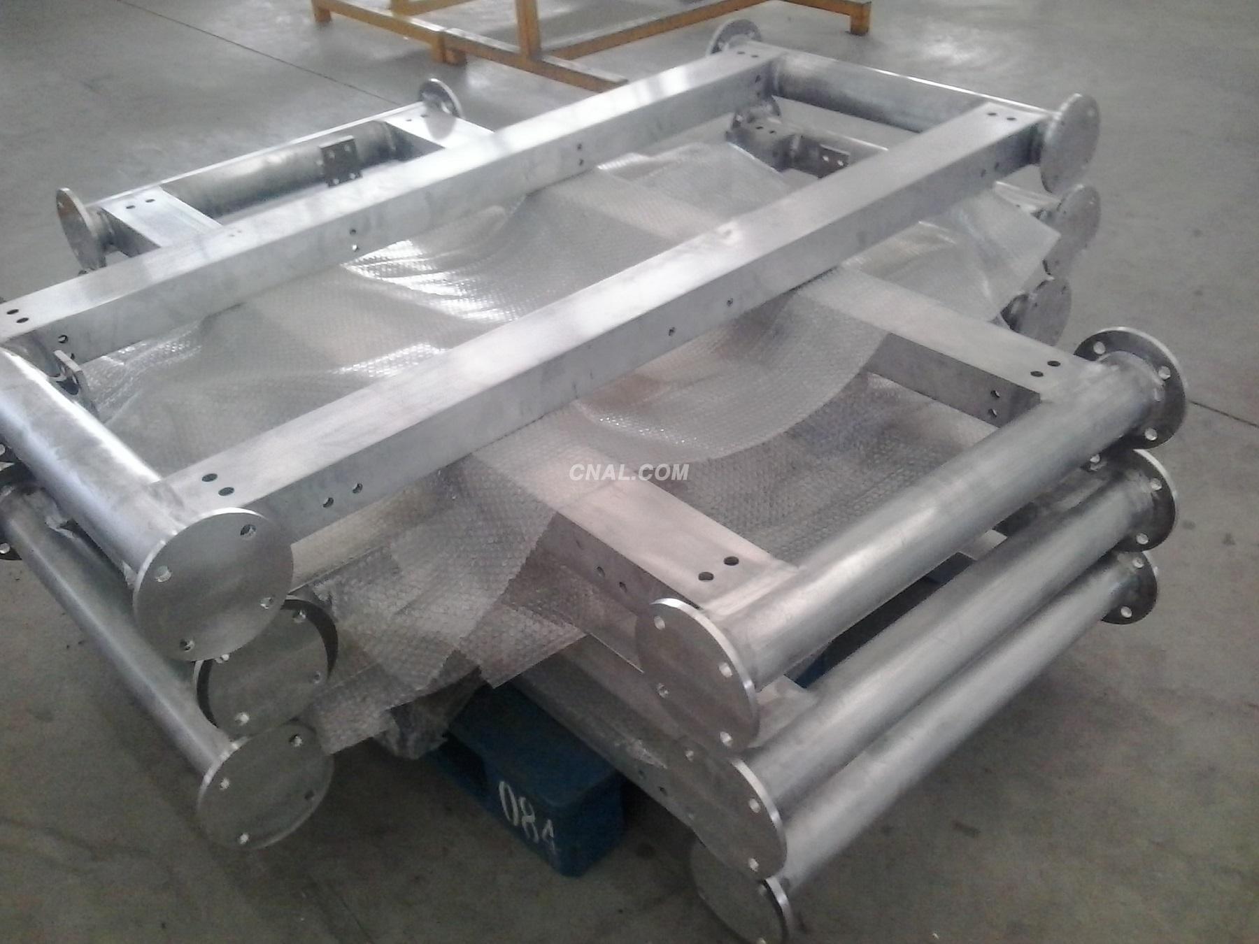 Aluminum frame welded