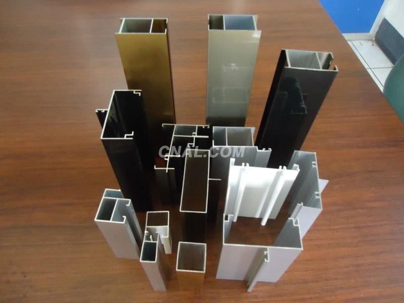 Anodized aluminum profile for window and door