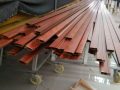 wood grain aluminum profile