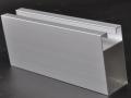 anodized silver aluminum profile
